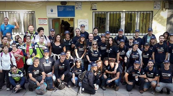 APAMA con los Voluntarios de Telefónica en el #DIVT